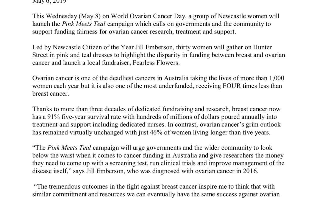 Breast Cancer Survivors Support Newcastle Campaign Demanding Funding Fairness for Ovarian Cancer